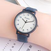 手錶 韓版數字簡約中小學生電子石英表兒童手表女孩男孩防水潮流皮帶表