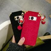三星 紅色招財貓 手機套 三星 s8 手機殼 s8 plus 毛絨個性時尚 三星 s8 + 女潮手機套 note8 手機保護套