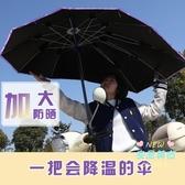 擋雨棚 電動電瓶車雨棚蓬自行電動車摩托車雨傘擋風罩防曬遮陽傘透明擋雨T 3色