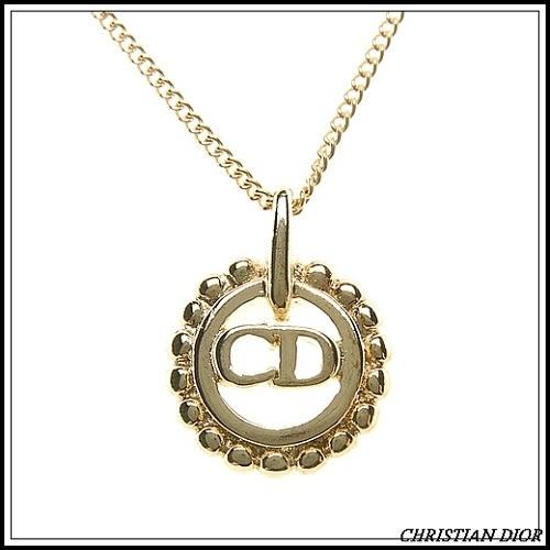 Christian Dior 簍空造型CD項鍊(金色)990187
