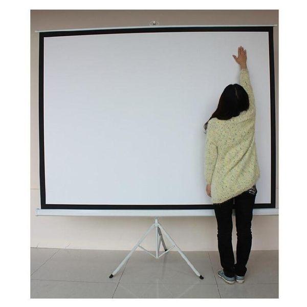 投影布幕螢幕60寸加厚支架幕高清白玻纖幕儀行動幕布【虧本促銷沖量】