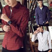 線條格紋長袖襯衫 4色 M-3XL碼【LX68150】