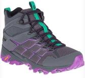 [好也戶外] Merrell MOAB FST 2 MID GTX 女登山健行鞋(Mega grip黃金大底) 灰/紫紅 NO.65398