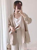 西裝外套女裝外套2020時尚新款潮女士網紅薄款小西裝韓版寬鬆女生西服上衣 交換禮物
