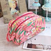 防水化妝包大容量韓國旅行收納包少女可愛粉色手拎洗漱包收納袋  居家物語