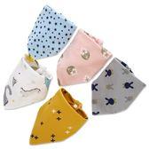 10條裝口水巾嬰兒三角巾純棉男女寶寶新生兒童圍嘴兜防水小孩秋冬