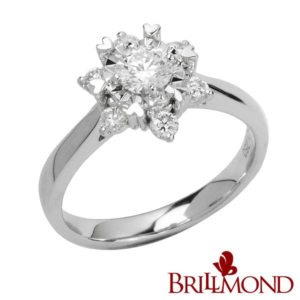 鑽石戒指【BRILLMOND JEWELRY】閃耀璀璨GIA 30分美鑽戒墜(D/VVS1 3EX)