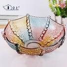 水果盤歐式水晶玻璃果盤花瓣果斗客廳創意水...