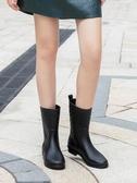 中筒雨鞋女雨靴成人防滑膠鞋水靴大人平底套鞋防水鞋韓國時尚水鞋