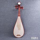 夏季新款民族樂器紅木琵琶花梨木兒童成人學生練習琵琶 aj6804『紅袖伊人』