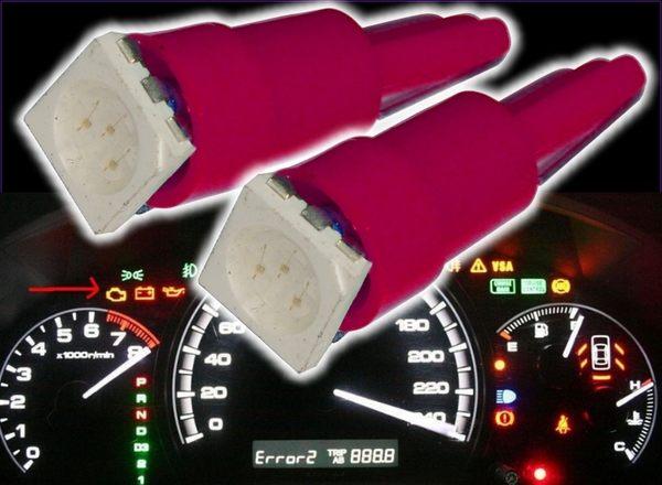 【洪氏雜貨】 236A594  T5 5050 1燈插泡 紅光單入  LED 方向燈 倒車燈