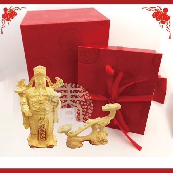 【南紡購物中心】Blissin鉑丽星 黃金飾品鑄件擺件-財神爺/富貴如意