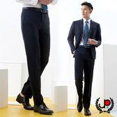 極品西服 正式簡約舒適透氣直條平面西褲_深藍條(BS703-1)