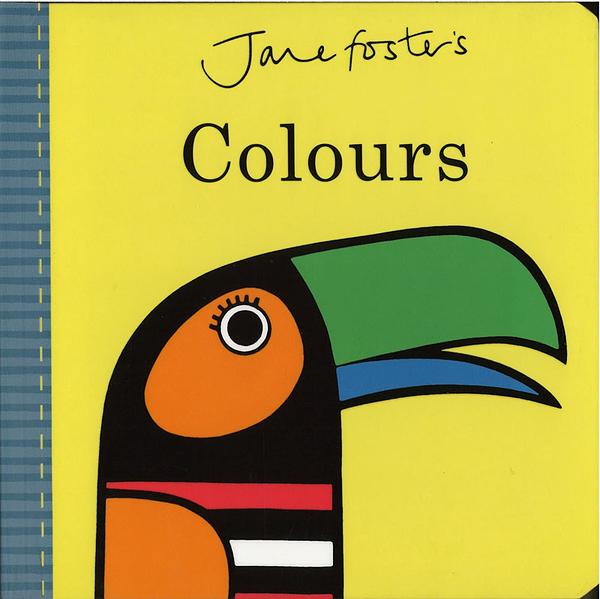 【高質感幼兒認知書】JANE FOSTER'S COLOURS/硬頁書  ※北歐風.圖騰設計大師作品 ※
