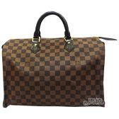 【Louis Vuitton 路易威登】N41363  經典Damier棋盤格SPEEDY手提波士頓包
