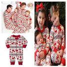 eBay爆款 聖誕節親子套裝印花家居服睡...
