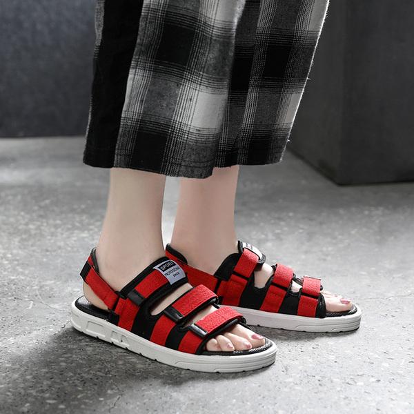 涼鞋女夏2020新款時尚網紅情侶拖鞋ins潮一鞋兩穿厚底外穿沙灘鞋