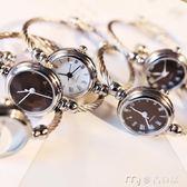 手錶手鐲式女開口中學生韓版簡約創意學院風潮流ulzzang女生鍊條     麥吉良品