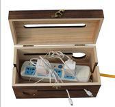 木質電源盒家用電線盒多款插座插板實木收納盒集線盒理線盒