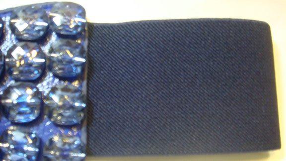 女腰帶   寬版伸縮時尚造型 ( 黑、寶藍 )
