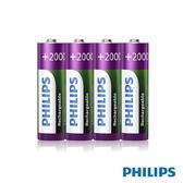 [富廉網]【PHILIPS】飛利浦 低自放充電電池 3號 4顆入