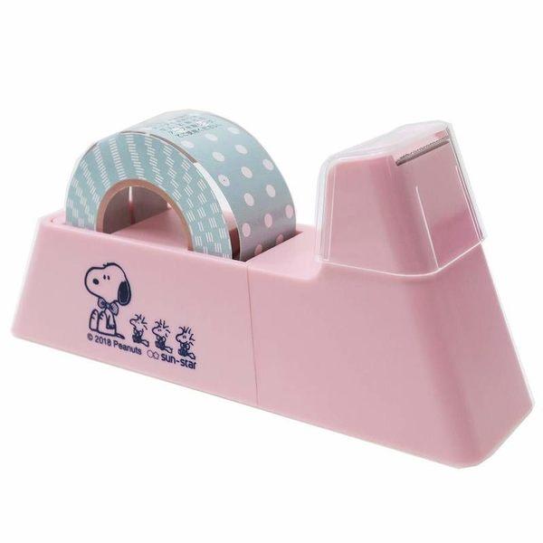 【KP】膠帶台 snoopy 史努比 粉色 文具用品 磁鐵膠台 日本進口正版授權 4901770584034