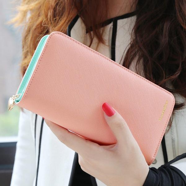 【現貨】皮夾 長夾 簡約素面大容量手機錢包包 -KQ820 女包包