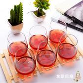 水晶玻璃杯子家用水杯茶杯套裝透明6只裝喝水果汁杯啤酒杯全館滿千88折
