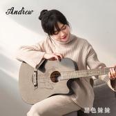 安德魯民謠吉他初學者學生成人入門自學38寸木男女生合板木吉它 GD806『黑色妹妹』