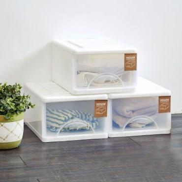 小純白單層收納櫃(單層9L) 3入組