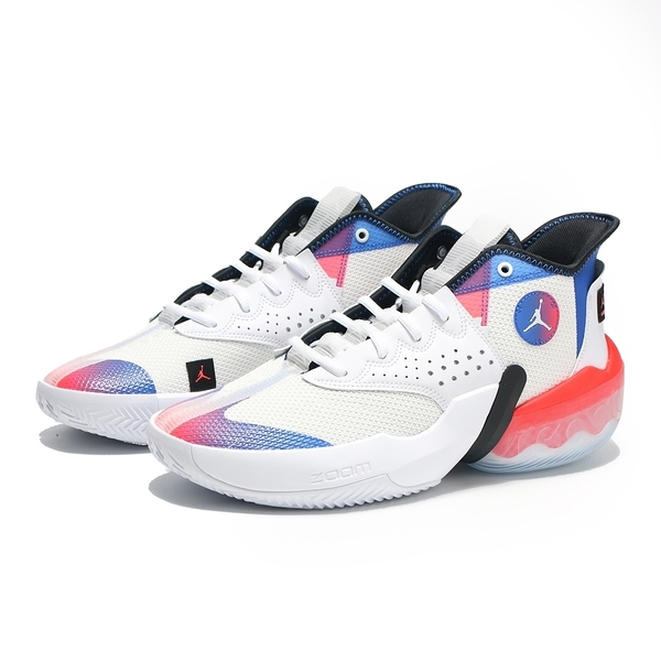 NIKE 籃球鞋 JORDAN REACT ELEVATION PF 白藍紅 緩震 男 (布魯克林) DC5188-102