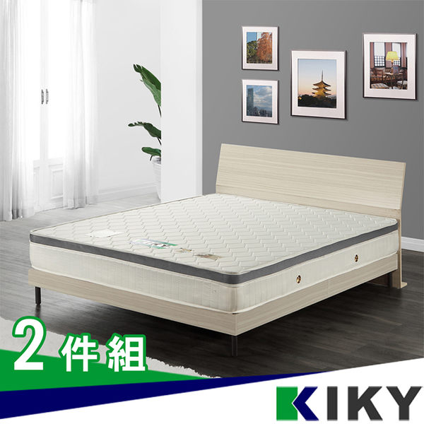床組/雙人床架5尺-【泰莉兒】現代簡約雙人床組(床頭+床底)~台灣自有品牌-KIKY~goddess