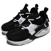Nike 休閒鞋 Wmns Air Huarache City Low 黑 白 綁帶 低筒 女鞋 武士鞋 【ACS】 AH6804-002
