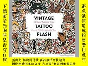 二手書博民逛書店Vintage罕見Tattoo Flash: 100 Years