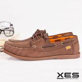 XES 男鞋 經典帆船鞋 英倫經典 型男 水波 紋底 帆船鞋(隨性淺棕)