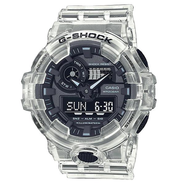 CASIO 卡西歐 手錶專賣店 GA-700SKE-7A G-SHOCK 雙顯電子錶 男錶 矽膠錶帶 防水200米 GA-700SKE