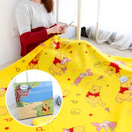 正版 維尼雙刷毯 盒裝 150x120cm 保暖毛毯 保暖毯 冷氣毯 毯子 被子 小熊維尼 維尼熊 迪士尼