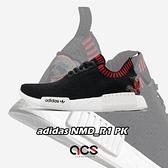 【五折特賣】adidas 休閒鞋 NMD_R1 PK 黑 紅 白 男鞋 刺繡 中國風 編織鞋面 Boost 襪套式【ACS】 EH2238