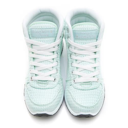 PLAYBOY街頭玩美 銀蔥高筒內增高休閒鞋-綠