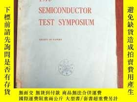 二手書博民逛書店1975罕見semiconductor test symposium(P3058)Y173412