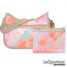 LeSportsac - Standard側背水餃包/流浪包-附化妝包 (迷幻珊瑚) 7520P F638