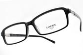 LOEWE 光學眼鏡 VLW862K 700 (黑) 經典LOGO方框款 # 金橘眼鏡