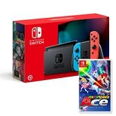 【神腦生活】任天堂 Switch 紅藍主機 (電池加強版)+馬利歐網球 中文版
