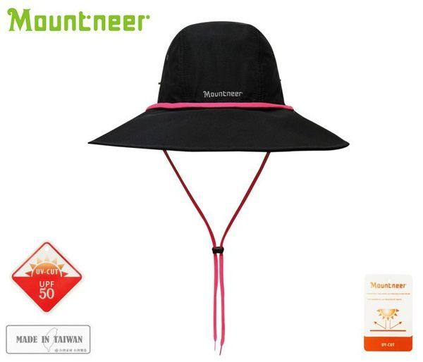 丹大戶外【Mountneer】山林休閒 中性款 透氣抗UV大盤帽 防曬遮陽帽/休閒帽/牛仔帽 11H10-01 黑色