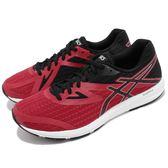 Asics 慢跑鞋 Amplica 紅 黑 輕量透氣 基本款 男鞋 運動鞋【PUMP306】 T825N2390