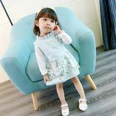 新款秋裝女寶寶連衣裙0-1-2-3歲女童兩件套裝