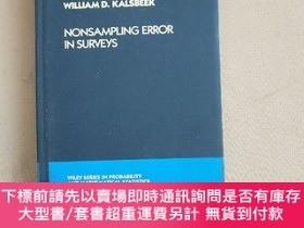 二手書博民逛書店Nonsampling罕見Error in Surveys 測量中的非抽樣誤差(英文原版 精裝)Y11026