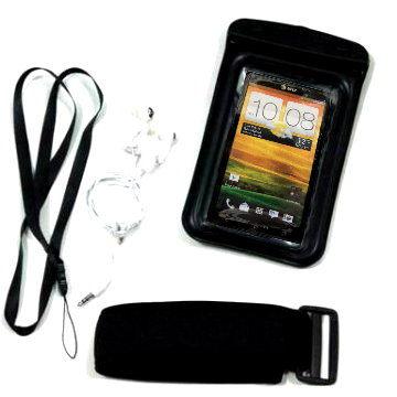 HTC ONE X X+漂浮防水袋 游泳HTC ONE V ONE S運動防水臂套 送防水耳機 內建3.5mm耳機孔 防水套
