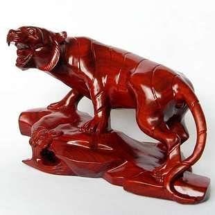 紅木工藝品木雕家居裝飾品擺件 生肖老虎
