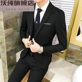西裝外套男 秋冬韓版修身男士小西裝英倫青年薄款上衣西服休閒男裝外套單西潮 毅然空間